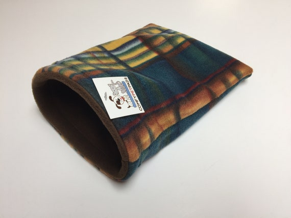 Plaid Snuggle Sack, for Guinea Pigs, Hedgehogs, Rats, or other small critters, Washable