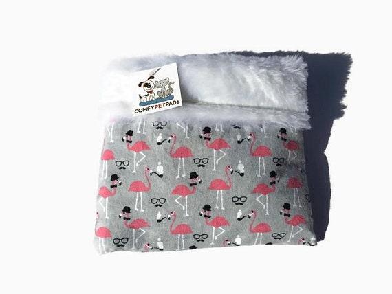 Flamingo Snuggle Sack for small pets