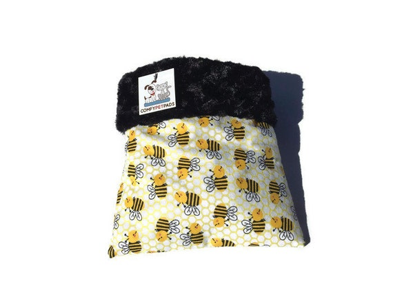 "Snuggle Sack with Minky Fur, Small Animal Bedding, 3 layers, Size 9""x9"", Washable"