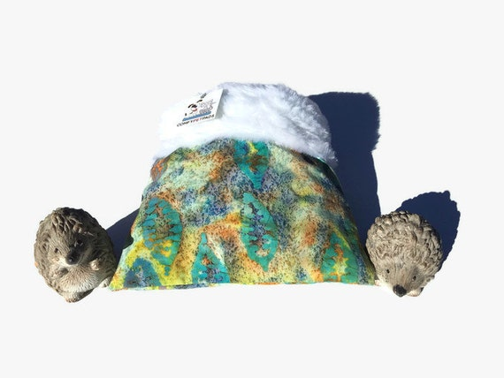 Snuggle Sack for Hedgehogs with Faux Fur, 3 layers, Washable, Size 9x9