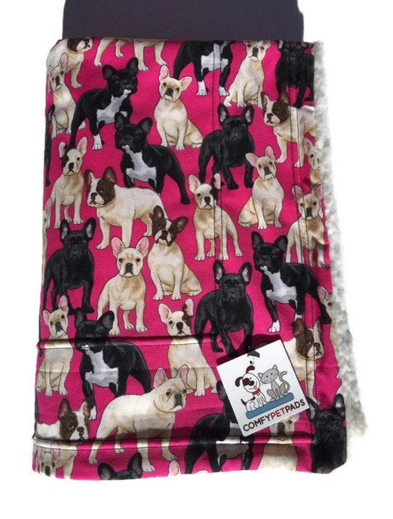 French Bulldog Blanket, Dog Blanket, Made in Colorado, Puppy Bedding, Crate Bedding, French Bulldog Baby, Dog Throw, Toddler Nap Blanket