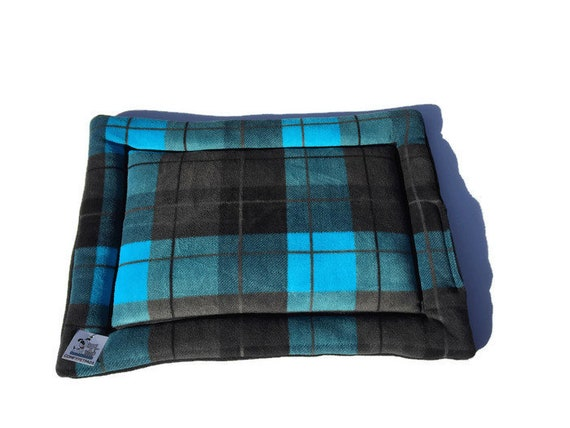 Plaid Crate Pad Bed for Dogs, Small Cat Mat, Pet Stroller Pad, Kennel Bed, Cat Table Pad, Pet Stroller Pad, Cat Couch Cover, Size 19x25