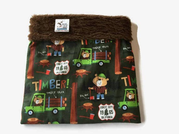 Snuggle Sack with Smokey the Bear, Chihuahua Burrow Bag, Cuddle Bag, Bearded Dragon, Small Dog Bed, Chihuahua Sack, Cage Accessories, SSM