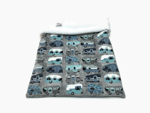 Snuggle Sack with Travel Trailers, Dog Sleep Bag, Cat Burrow Bag, Washable, Size 28x20 uncuffed