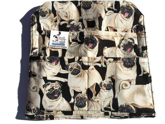 Walker Bag, Pug Lover Gifts, Hospital Bed Rail, Nursing Home Gifts, Wheelchair Accessories, Sports Chair Tote, Chair Caddy, Size 13x13
