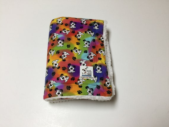 Colorful Dog Blanket, Pet Stroller Cover, Crate Bedding, Kennel Linker, LGBT Pride, Pet Pride Gifts, Dog Throw, Washable, Size 39x29