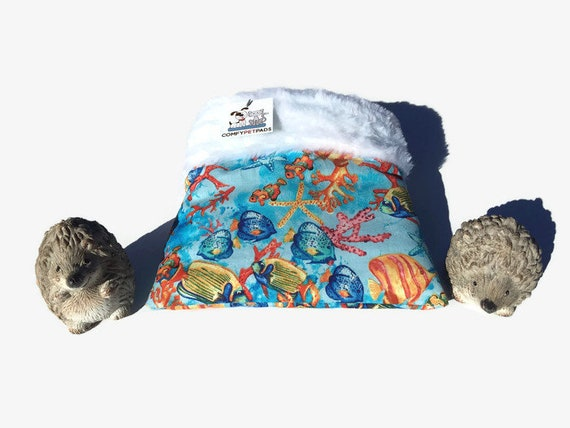 Snuggle Sack for Hedgehogs with Faux Fur, Cage Accessories, 3 Layers, Washable, Size 9x9