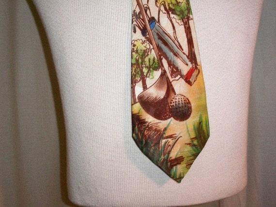 1940's Golfer's Tie