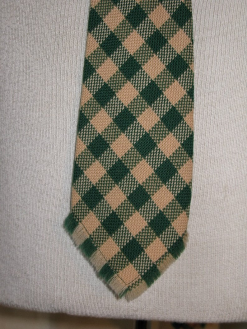 Fringed Bottom Tie 1950s