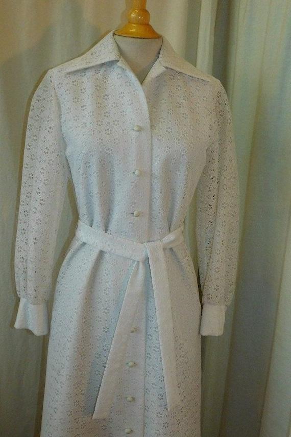 1960's  Liberty House Eyelet Dress