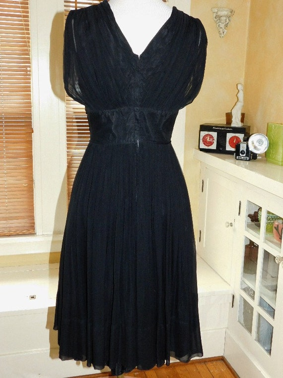 1950's Chiffon Party Dress - image 6