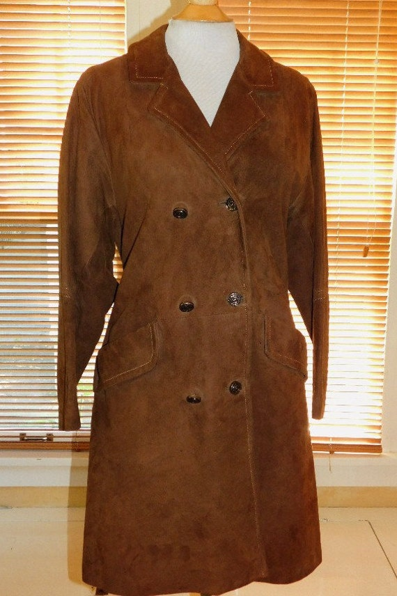 60s Womans Suede Coat/Jacket