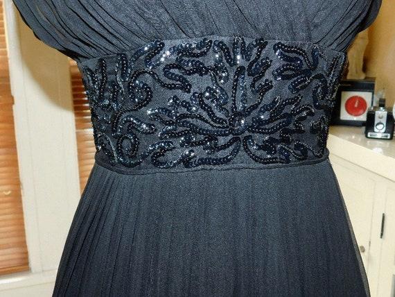 1950's Chiffon Party Dress - image 7