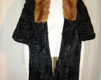 1950's Cape with Mink Collar