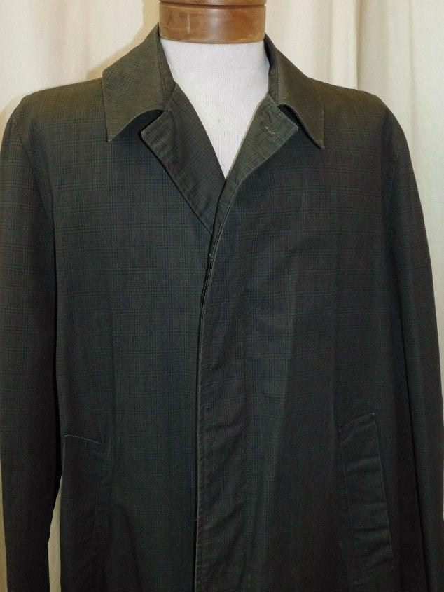 1960s – 70s Men's Ties | Skinny Ties, Slim Ties Mens Plaid Trench Coat 1960S $36.00 AT vintagedancer.com