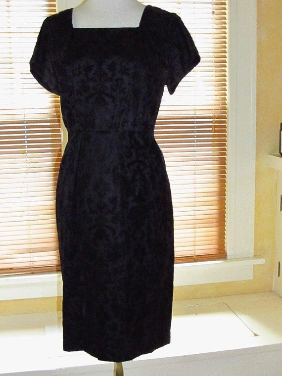 1950's Flocked Dress