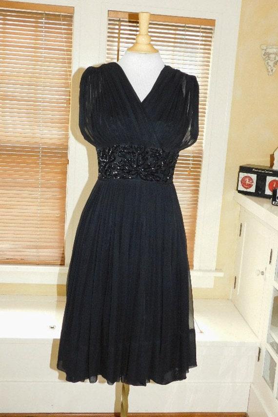 1950's Chiffon Party Dress - image 2