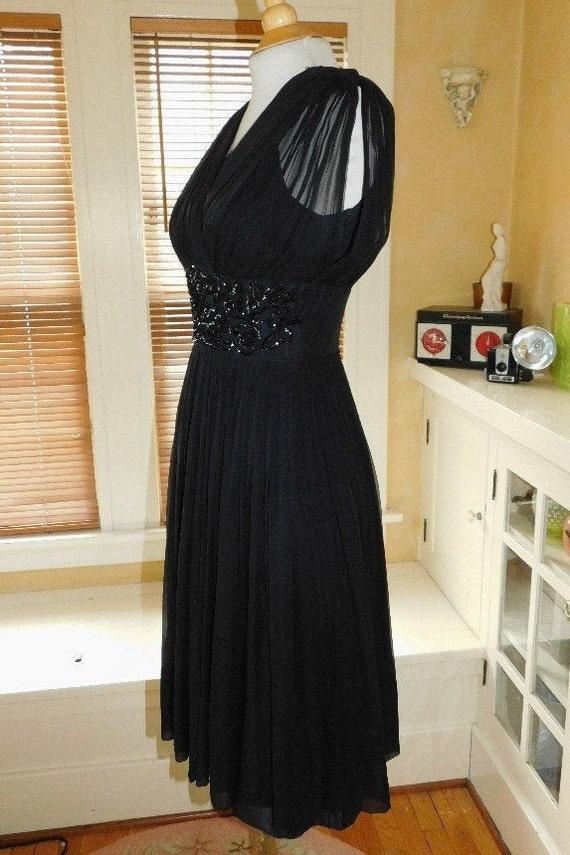 1950's Chiffon Party Dress - image 4