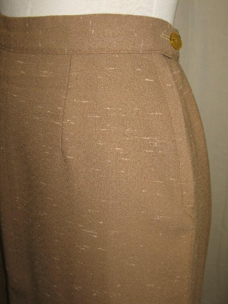 Woman/'s 1950/'s Flecked Mocha Suit