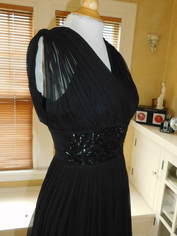 1950's Chiffon Party Dress - image 5