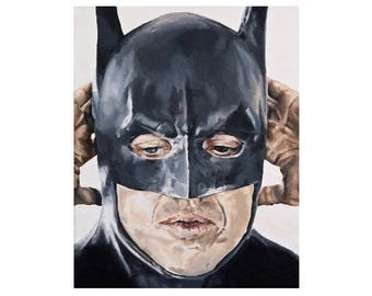 Keaton's Mask - Michael Keaton Tim Burton's Batman Art Print (Unframed)