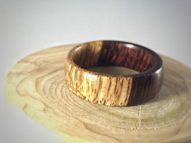 wooden wedding band Honduran Rosewood wood ring green wedding ring wooden ring wedding engagement wood anniversary gifts wood ring