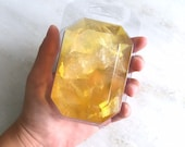 NOVEMBER/CITRINE-Birthstone  Mineral Soap Bar 4oz.FACETED