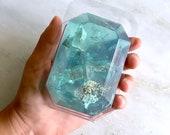MARCH/AQUAMARINE-Birthstone  Mineral Soap Bar 4oz.FACETED