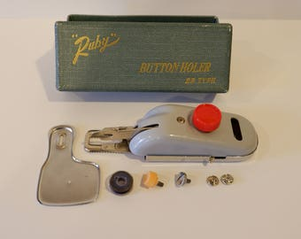"Vintage ""Ruby"" Buttonholer"