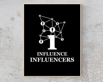 ENTREPRENEUR- I Influence Influencers - Quote- Wall Art
