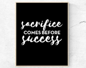 Sacrifice Success Etsy