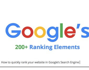Google SEO - How to Rank Your Website or Product with Google - Internet Marketing - Easy to Use SEO Guide