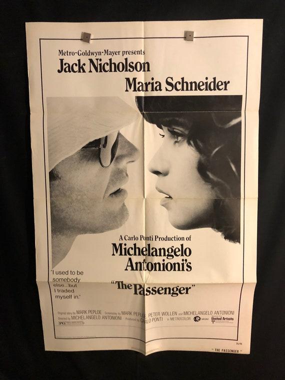 Originele 1975 De Passagier één Blad Film Poster Jack Nicholson Maria Schneider Michelangelo Antonioni