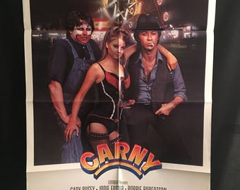 Original 1980 Carny One Sheet Movie Poster, Jodie Foster, Gary Busey, Circus, Freaks, Clowns, Midgets