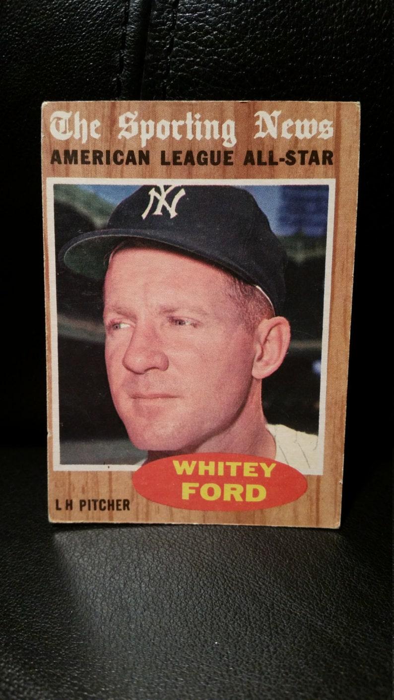 Whitey Ford 1962 Topps Baseball Card 475 The Sporting News New York Yankees