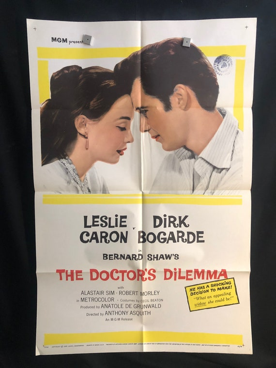 Original 1959 Doctor S Dilemma One Sheet Movie Poster Etsy