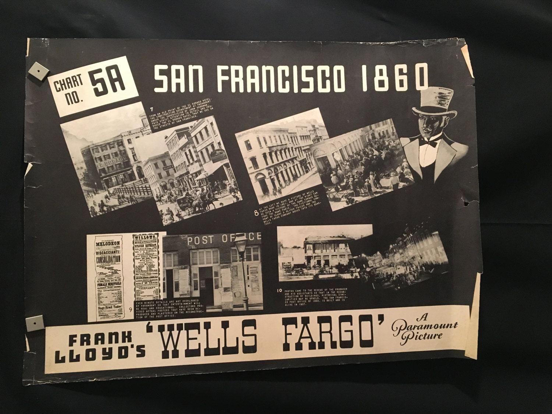 Original cartel de película 1937 Wells Fargo media hoja Joel | Etsy