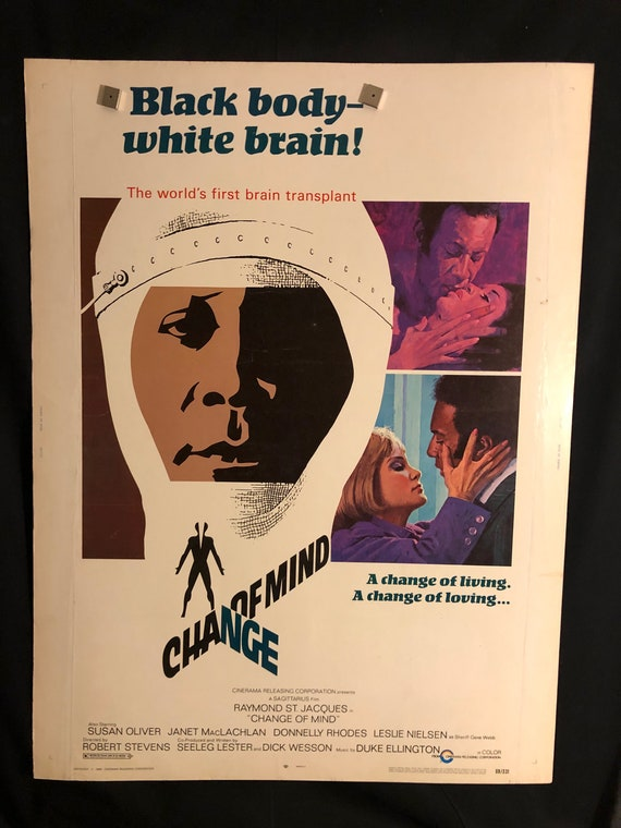 Original 1969 Change Of Mind 30x40 Movie Poster Etsy