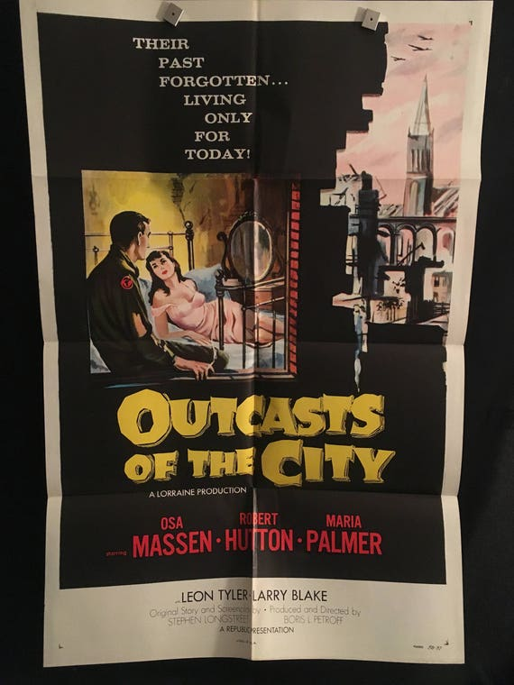 Original 1958 outcasts of the city one sheet movie poster malvernweather Choice Image