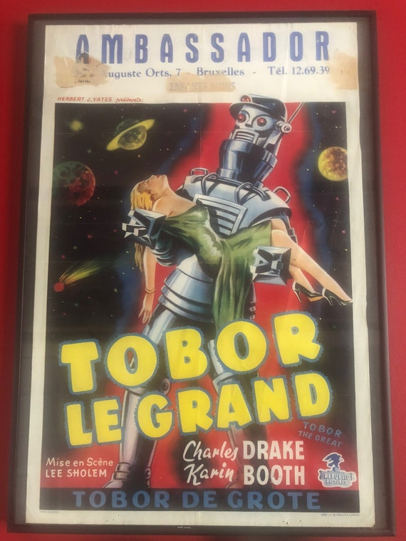 TOBOR THE GREAT MOVIE POSTER Rare Hot Vintage 2