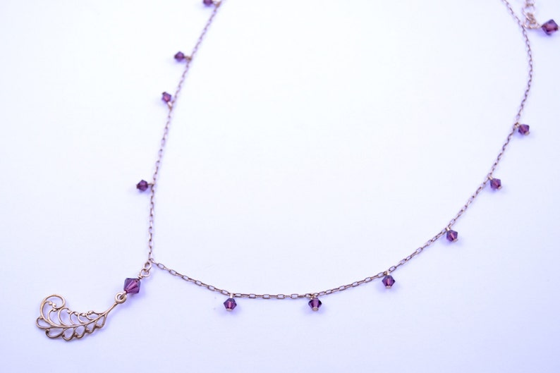 Worn by Bonnie The Vampire Diaries S7E19 Amethyst Necklace Amethyst (Original)