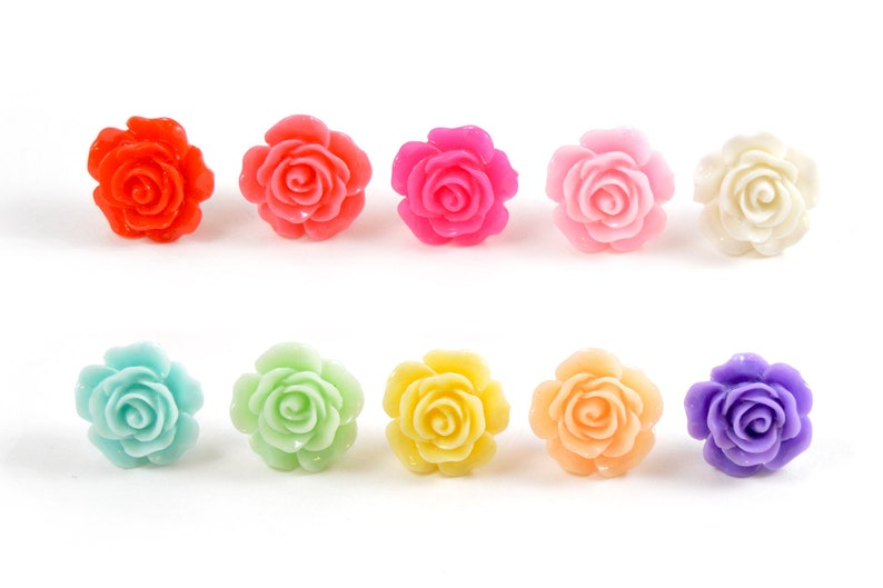 1/2 7/16 00g 0g 2g 4g 6g 8g 10g 12g 1 PAIR 14mm Rose Plugs image 0