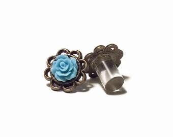 7/16 00 g 0g 2g 4g bleu ciel Rose en laiton bouchons jauges de bijoux de mariée demoiselles d'honneur Formal Wear Occasion spéciale de mariage