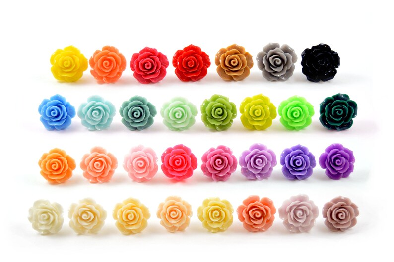 5/8 9/16 1/2 00g 0g 2g 4g 6g 20mm Rose Plugs Wedding Plugs image 0