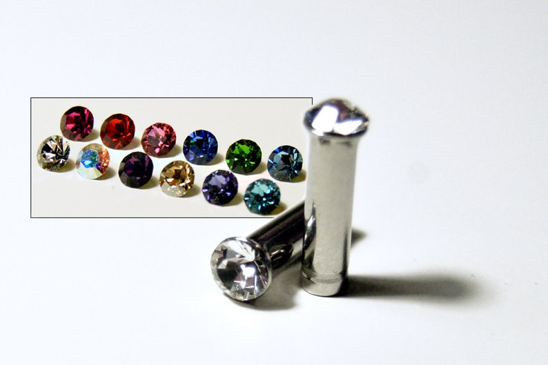 8g 10g 12g 1 Pair Plugs Made With Swarovski Elements 316L image 0