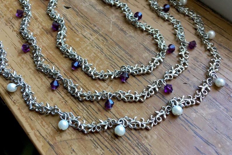 Worn by Violet The Vampire Diaries S8E9 Silver Rhodium Amethyst