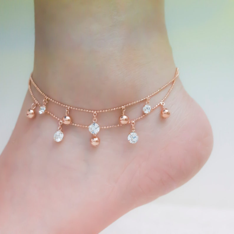 816202588b0 Rose gold ankle bracelets rose gold anklet ankle bracelet