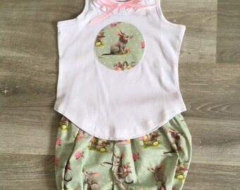31b9e15aae17 Cute Bilby Top and Nappy Cover Set, Cute Babies Top and Pant Set, Baby  Girls Sets, Girls Clothes, Australian Seller
