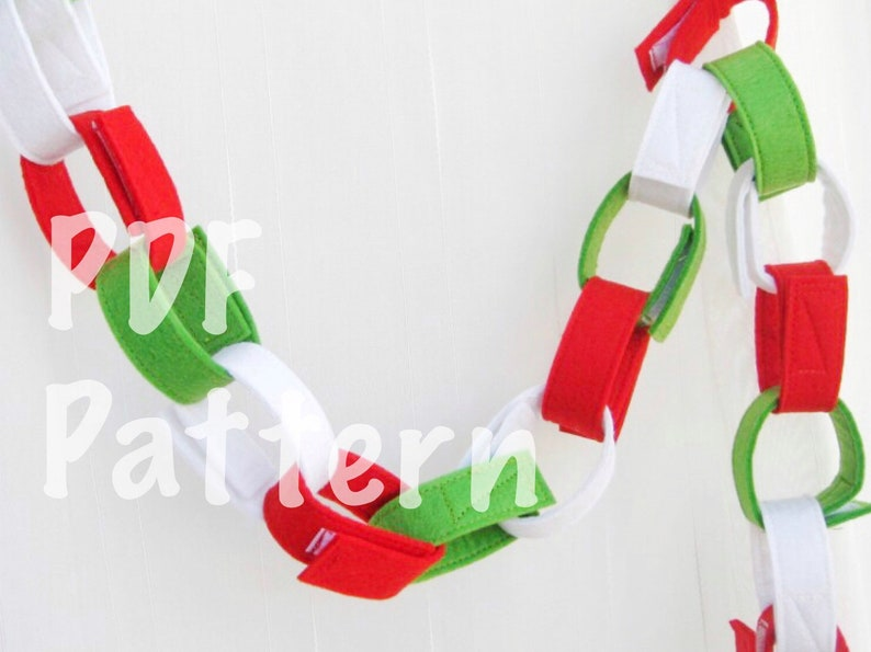 PDF How To Make Felt chains garland tutorial image 0