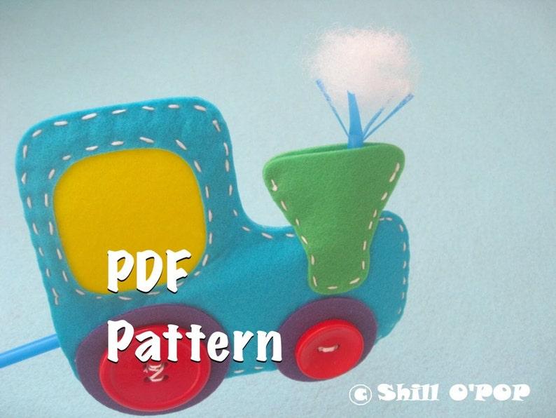 Choo Choo Train felt blowing toy for kids PDF pattern and image 0